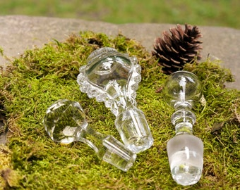 Vintage Glass Bottle Stopper Collection