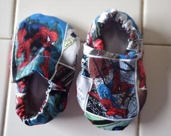 Spiderman crib shoes