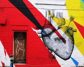 Heart street art print Elian & Alexis Diaz London - LIMITED EDITION