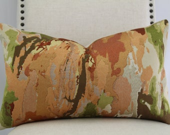 Designer abstract fabric,pillow cover,accent pillow,decorative pillow,throw pillow,lumbar pillow,couch pillow.