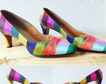 50s Silk Vintage Pumps (size7)