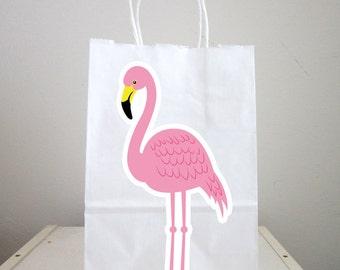 Flamingo Goody Bags,  Flamingo Favor Bags, Flamingo Gift Bags, Flamingo Birthday Favors