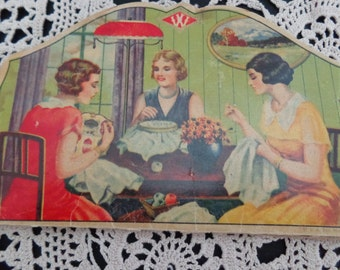 Needle Card Vintage Assorted Needles Made of Swedish Steel Vintage