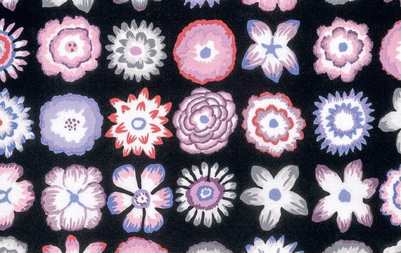 BUTTON FLOWERS in CONTRAST  gp152 Kaffe Fassett Sold in 1/2 yd increments