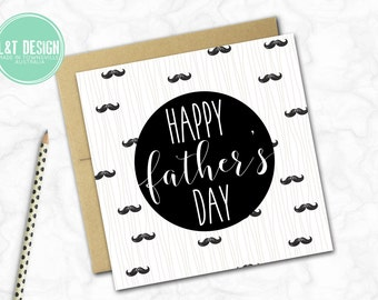 Father's Day Card {MOUSTACHE MANIA}