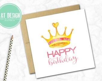 Birthday Card {CROWN}