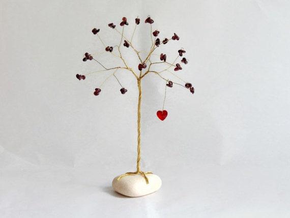 40th anniversary gift 40th wedding anniversary ruby tree