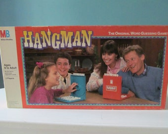 Vintage / Retro 1988 Hangman A Classic American Game For Two Boardgame / Board Game By Milton Bradley MB