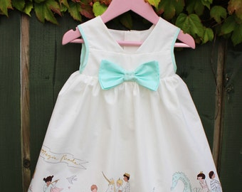 Ready To Ship! 12-18 months, White Cotton Whimsical Baby Girl Dress,Newborn Baby Gift,Baby Boutique,1st Birthday Dress,Cake Smash Dress