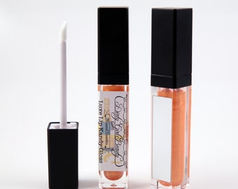 Luxe Lip Kandy Tinted Lip Gloss in MIMOSA with Built-in Mirror - Vegan