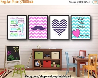 60% OFF SALE Baby Girl Nursery Decor, Girls Room Decor, Girls Wall Art, Chevron Wall Decor, Girls Room Art, Quote Posters, Baby Girl Nursery