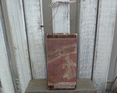 Handmade primitive wooden mixed media sign - Trick or Treat