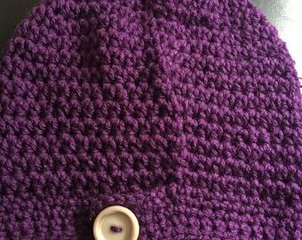 Purple slouch hat slouch hat childs slouch hat teen slouch hat tween slouchy hat slouchy hat fashion hat trendy hat button hat tam
