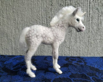 Custom Needle felted wool  Foal for Cynthia Laframboise, felted by Carol Rossi