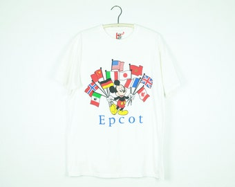 80s EPCOT Vintage Mickey Mouse Tshirt Large