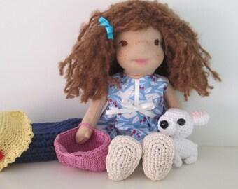 Waldorf doll. Steiner doll. Natural doll. Handmade doll. Handmade.