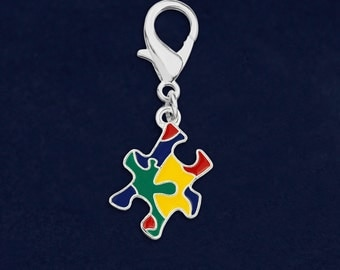 Colored Puzzle Piece Hanging Charm (Retail) (RE-HC-P28-2)