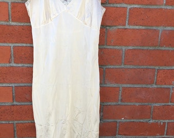 Cream side lacey slip