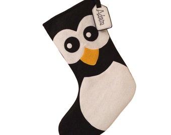 Handmade Felt Penguin Christmas Stocking