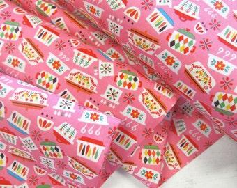 Vintage Kitchen - Kitchen Dishes(Pink) - Andrea Muller - Riley Blake Designs