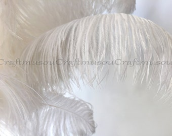 Natural Ostrich feathers 20 Piece 10-24 inches White ostrich feather for Wedding Centerpiece decoration