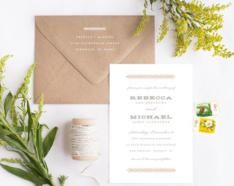 Wedding Invitation Suite Sample - Evergreen