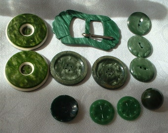 Vintage buckle and buttons