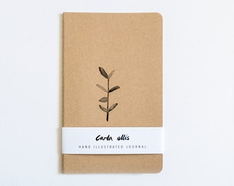Moleskine Journal: Botanical, Hand Illustrated - Blank or Lined