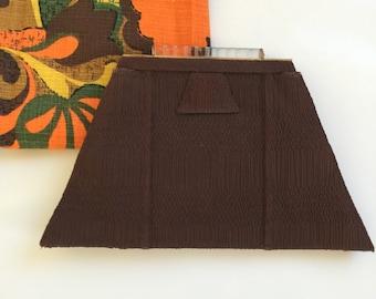 Gorgeous Brown Forties Clutch Handbag