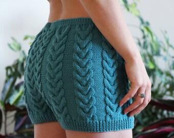 underwear knit - fashion knitted shorts - merino wool - warm underwear - women fashion shorts - knitted shorts - lingerie - warm knitwear