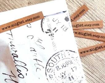 Kraft Paper Sticker - Customized Kraft Adhesive Labels - Kraft Tag - 80 units