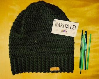 Cilantro Green Slouchy Hat