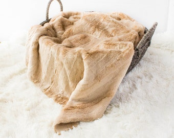 Faux Fur Brown Mink, Newborn Baby Photo Prop, Brown Faux Fur, Faux Mink Blanket, Neutral Faux Fur Photo Prop, Layering Blanket.