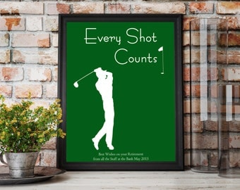 60th Birthday For Men, Retirement Gift For Man, Golf Pictures, Golf Gifts  For