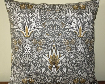 "William Morris Snakeshead Cushion 16"" x 16"" - Sanderson Fabric"