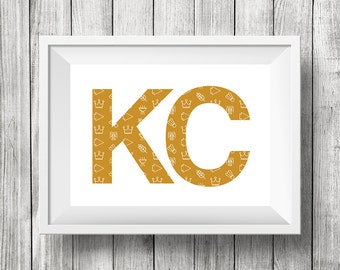 Kansas City Life Gold *Digital Download 8x10