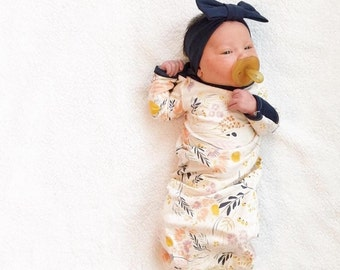 The Original Wispy Wildflower Newborn Baby Layette Gown