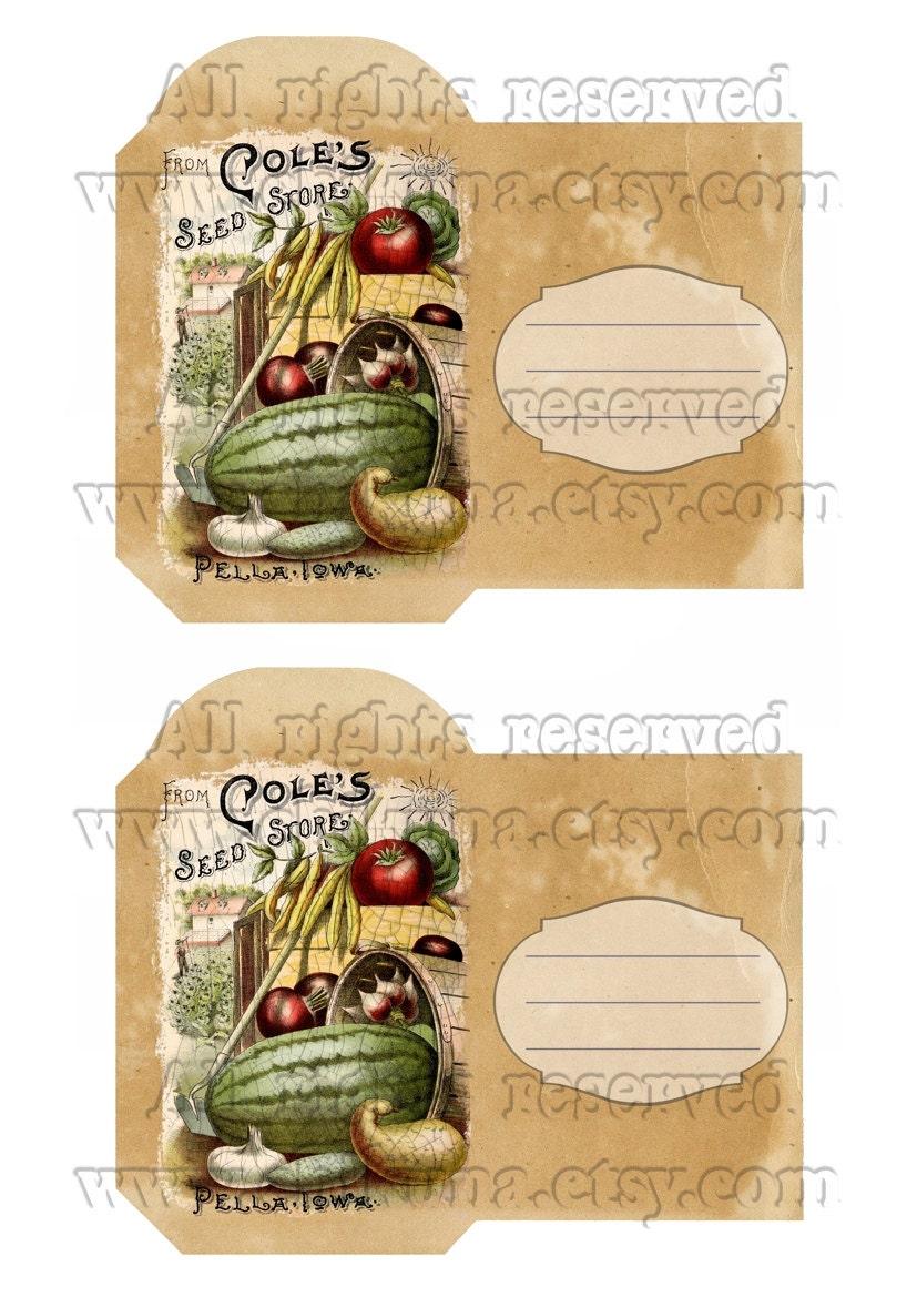 VINTAGE 3 - Printable DIY Seed Packet Download Digital ...