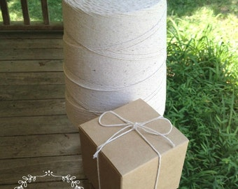 1,600 Feet • 8-Ply Thick 100% Natural Cotton Baker's Twine / String 2 Lb. Cone • Bakery String • Box String • Food Safe • Deli String