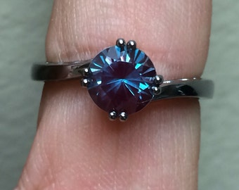 elegance collection alexandrite engagement ring 14k black gold wedding ring unique engagement ring statement ring proposal - Alexandrite Wedding Ring