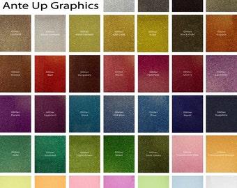 """Glitter HTV  Siser Glitter Heat Transfer Vinyl (HTV) 20"""" x 12"""" sheets for garment decorating / t-shirts / silhouette / Cricut / Glitter HTV"""