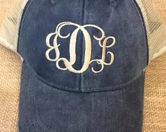 Monogram trucker hats