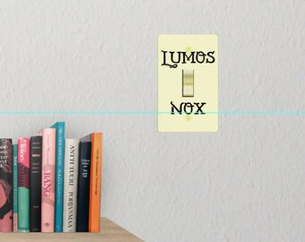 Harry Potter, Lumos Nox Light Switch Decal - HP Wall Decal
