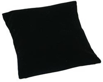 "Black Velvet Pillow for Watches or Bracelets 5""x5"" (Pkg of 2) (DIS1110)"