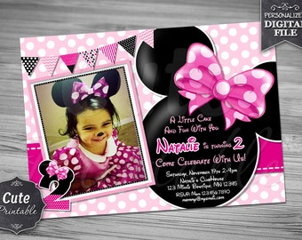 MINNIE MOUSE INVITATION, Minnie Invitation, Minnie Mouse Invitation, Minnie Mouse Invite