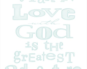 Aqua To Fall in Love with God Art Print Christain Print