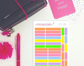 CPC 206 Tiny Transparent Highlighter Strips - Perfect for Pocket Planning!