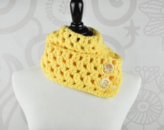 Neckwarmer - Scarf - Yellow - Crochet