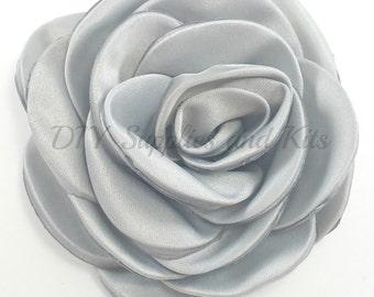 """Gray - 3"""" Rose petal flower - Gray flower"""