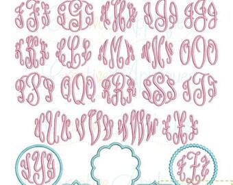 6 SIZES! Elegant Master Circle Embroidery Monogram Alphabet Font Digital Machine Embroidery, master circle embroidery font, monogram font